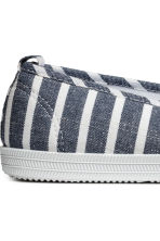 Slip-on trainers - Dark blue/Striped - Ladies | H&M 4